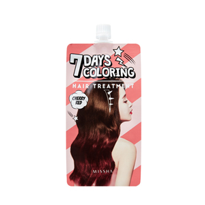 Seven Days Coloring Hair Treatment Cherry Red