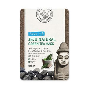welcos jeju natural green tea mask aqua